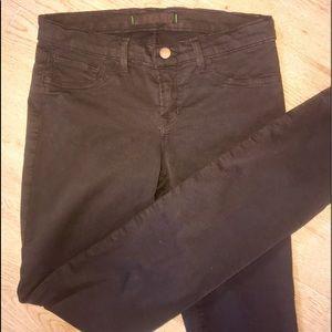 J Brand Suede Pencil Leg Jeans